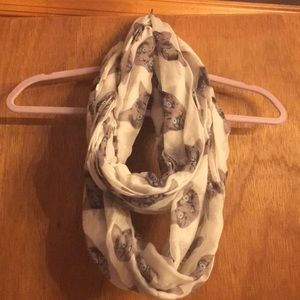 Cat print infinity scarf